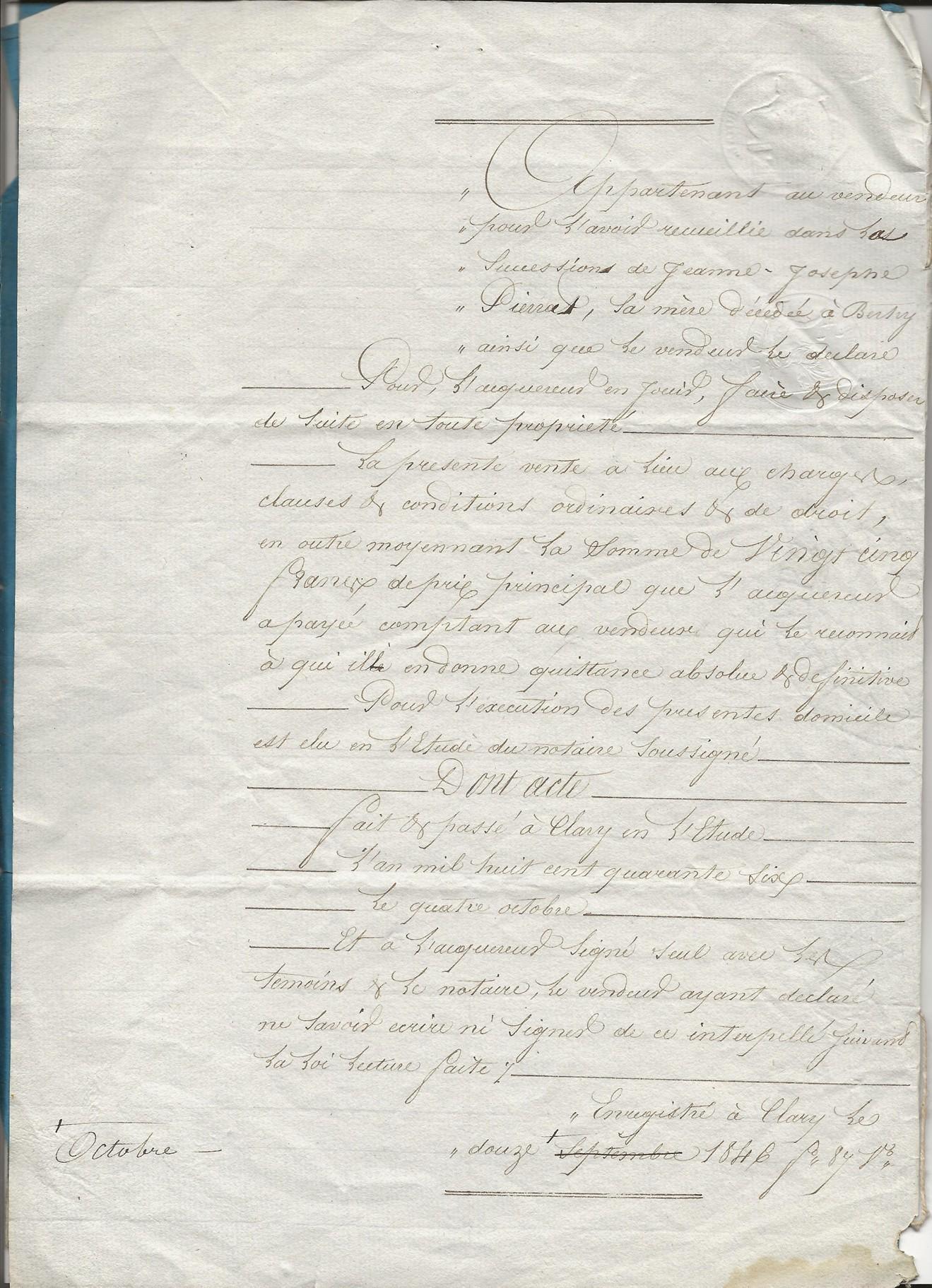 1846 vente laurain poulain a pierre jp pruvot 003