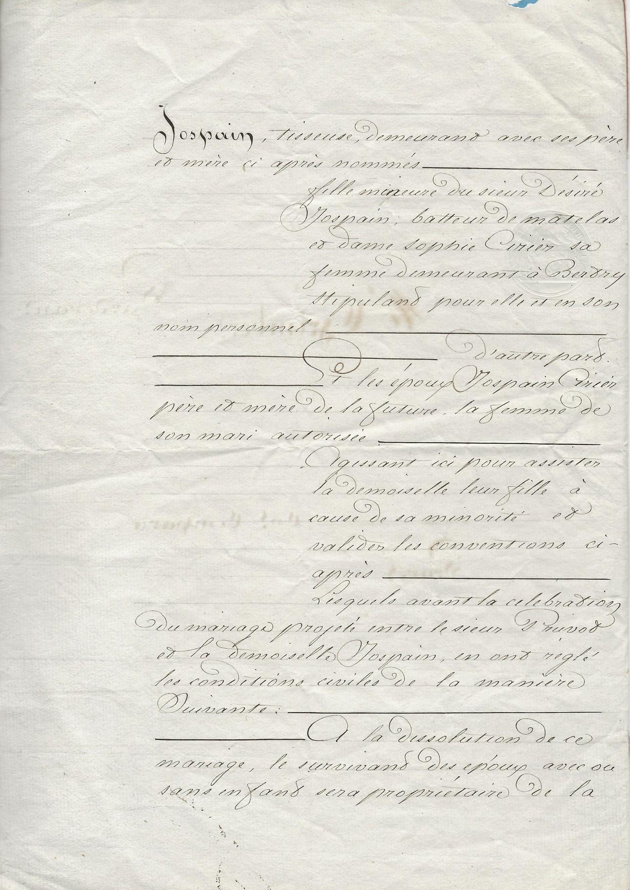 1848 mariage pruvot x jospin 002