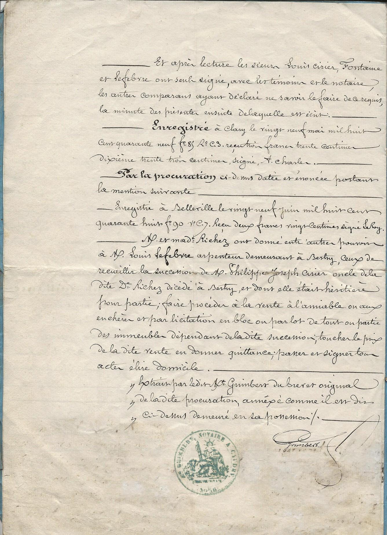 1849 vente terrrain amina ciriez a ses freres et soeurs 004