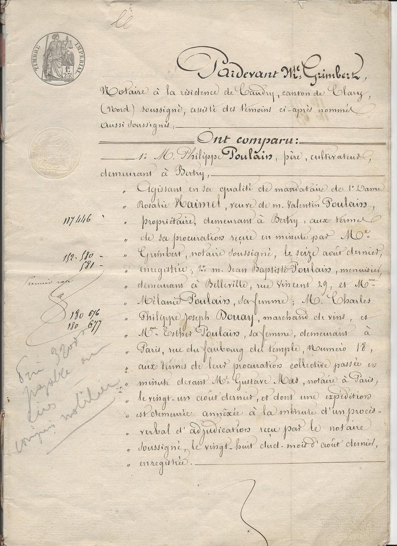 1854 vente vve et heritiers poulain a jospin 001
