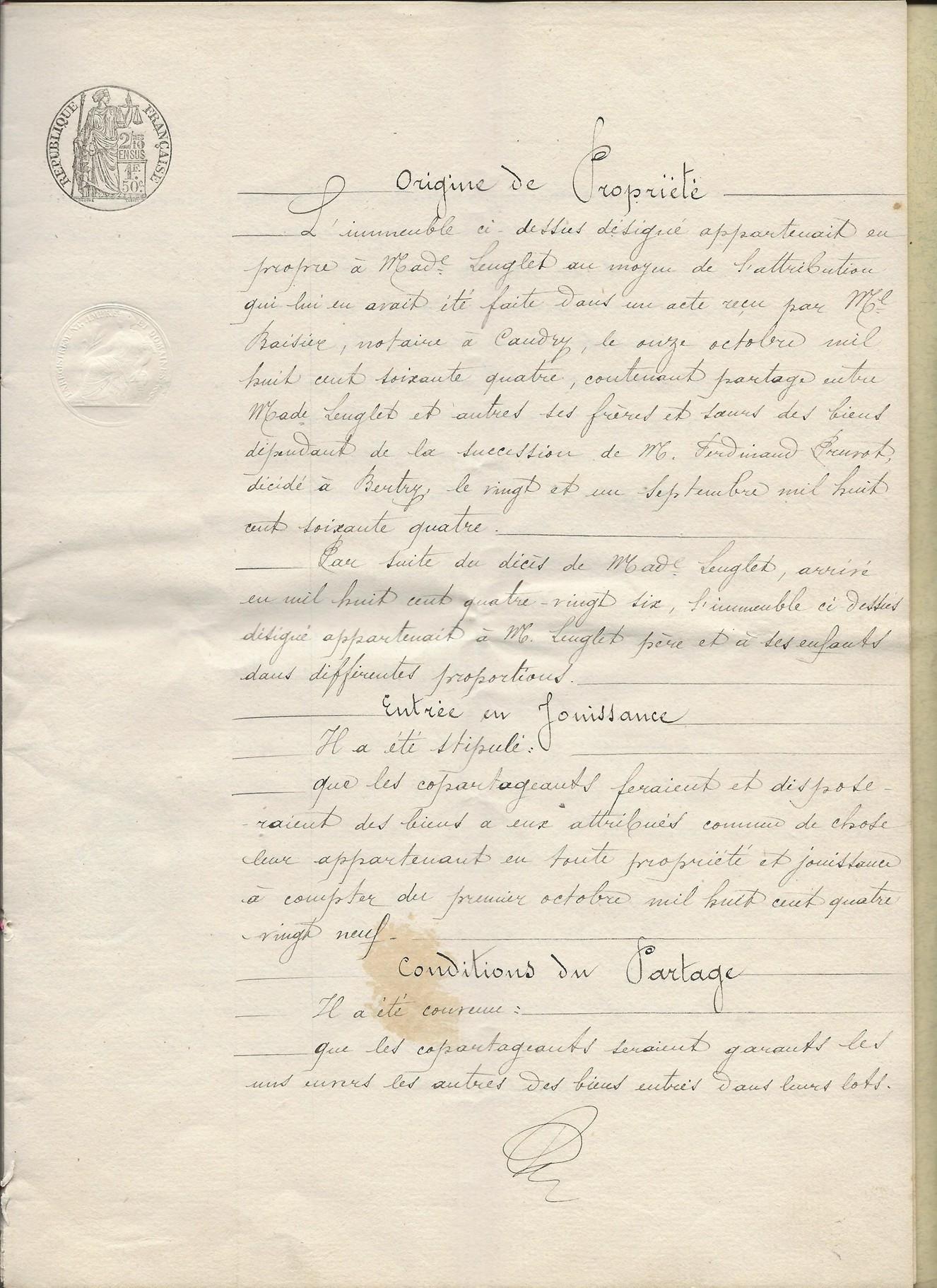 1889 succession de appolonie pruvot epouse lenglet emerile 003